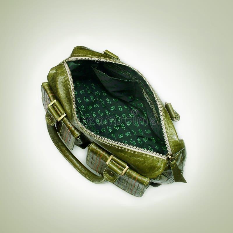 zielona torebka zdjęcia stock