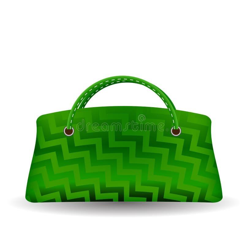 zielona torebka royalty ilustracja