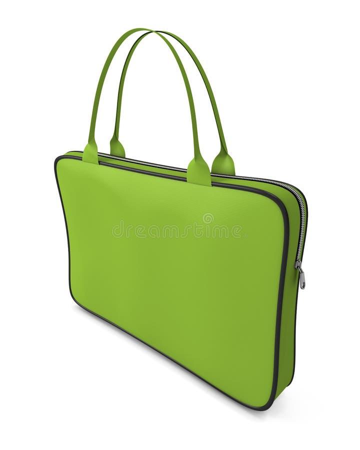 Zielona torebka z suwaczkiem ilustracji