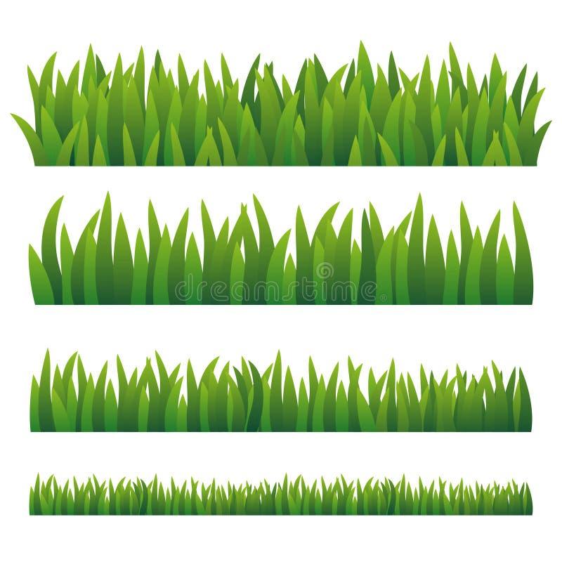 Zielona trawa, odizolowywająca na białym tle royalty ilustracja