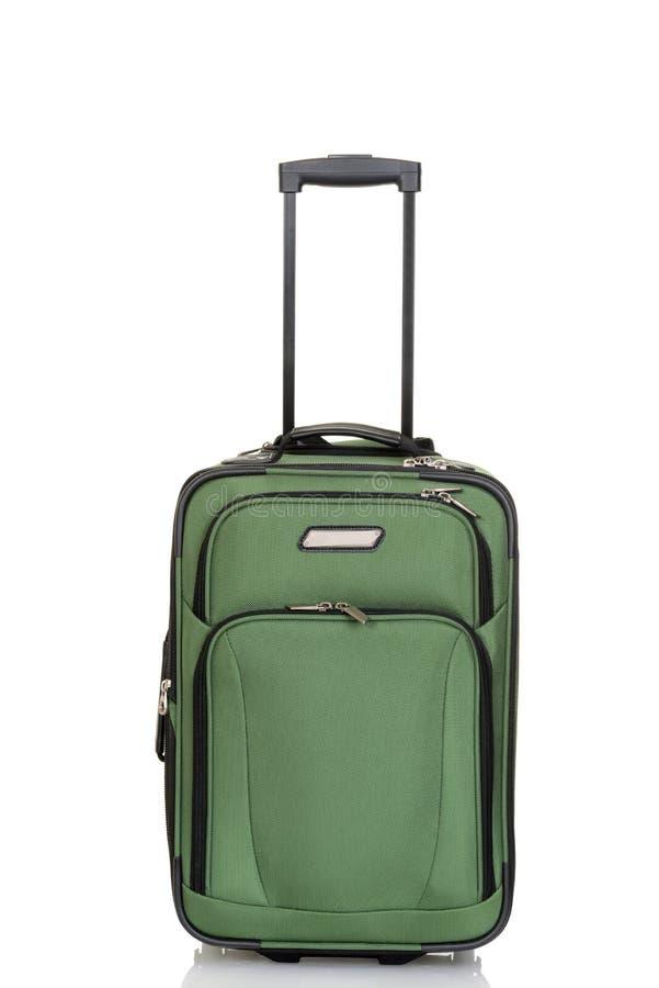 zielona walizka obraz royalty free