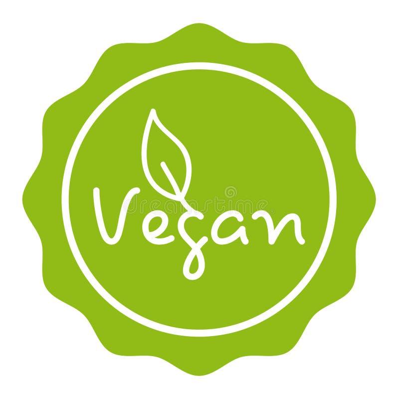 Zielona weganin odznaka - Eps10 wektor ilustracja wektor