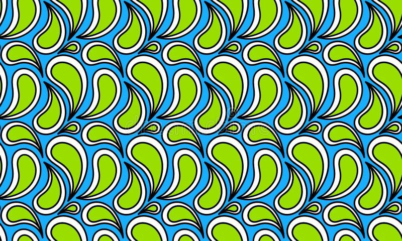 Zielona woda Opuszcza Bezszwową teksturę ilustracja wektor
