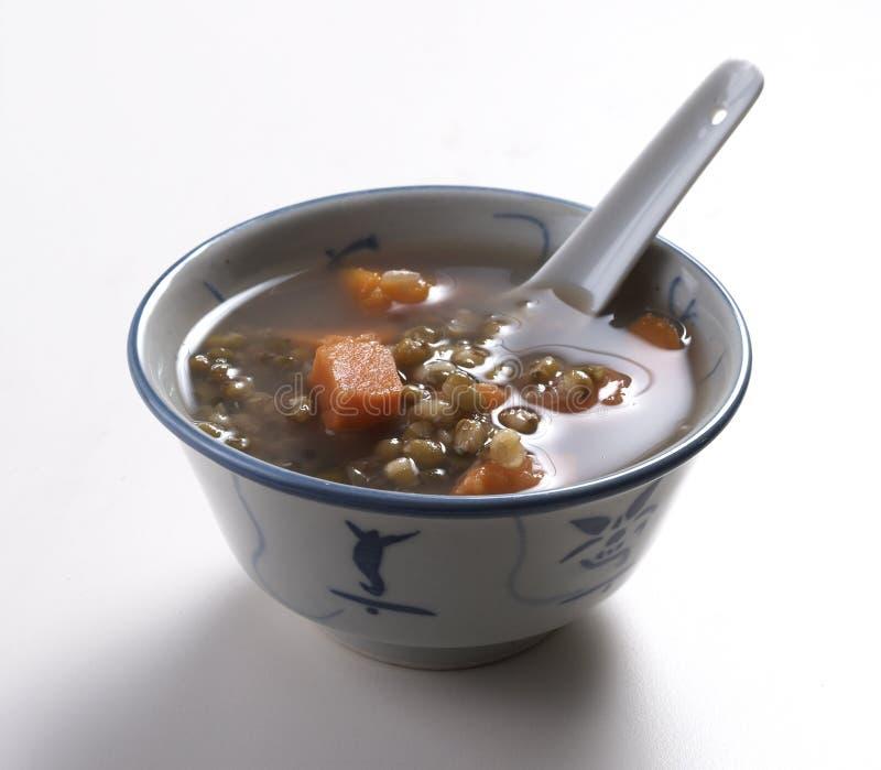 zielona zupa fasoli zdjęcia stock