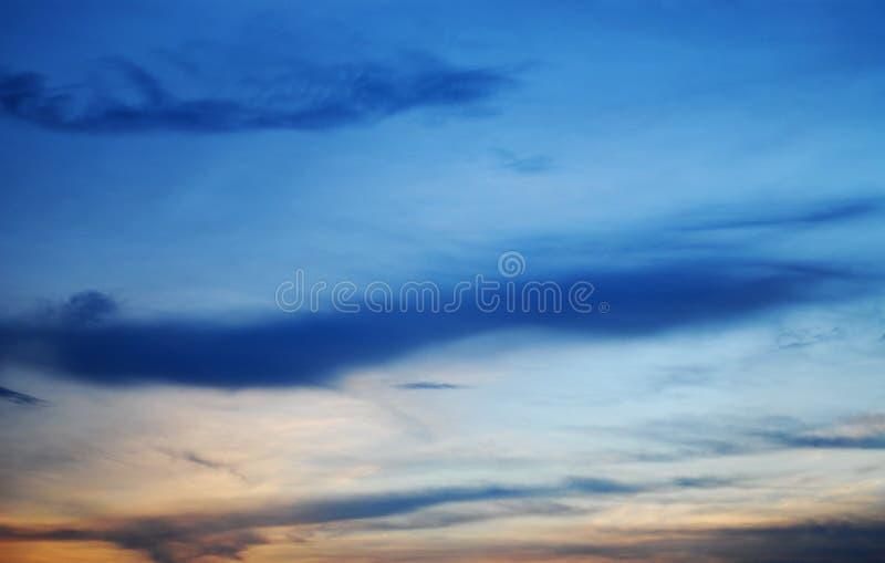 Zielonawy niebo obraz royalty free