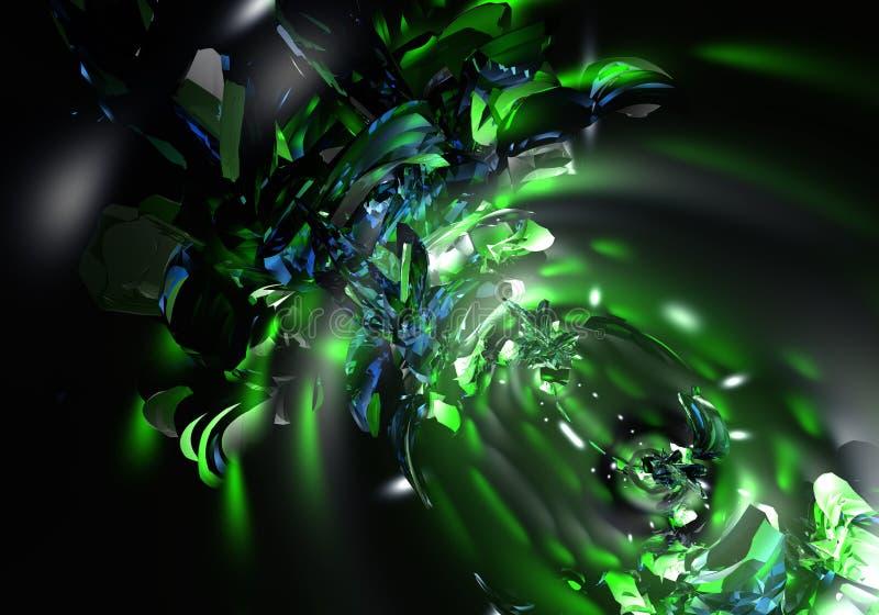 zielone światła ilustracja wektor