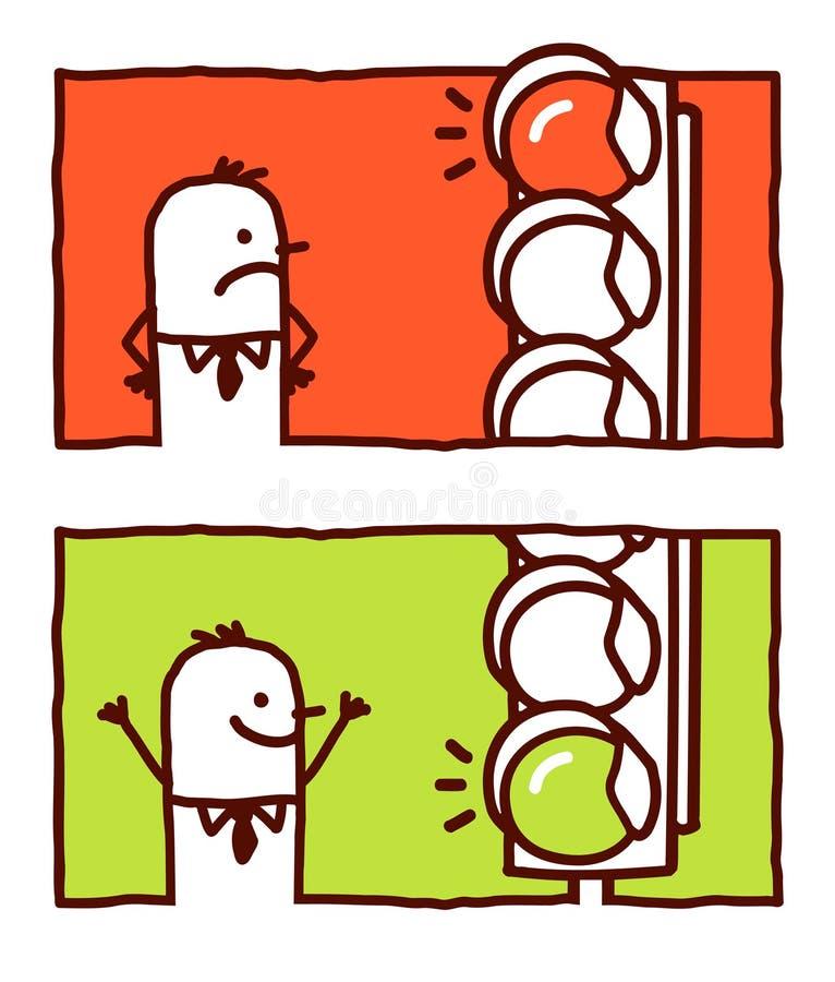 zielone światła czerwoni ilustracji