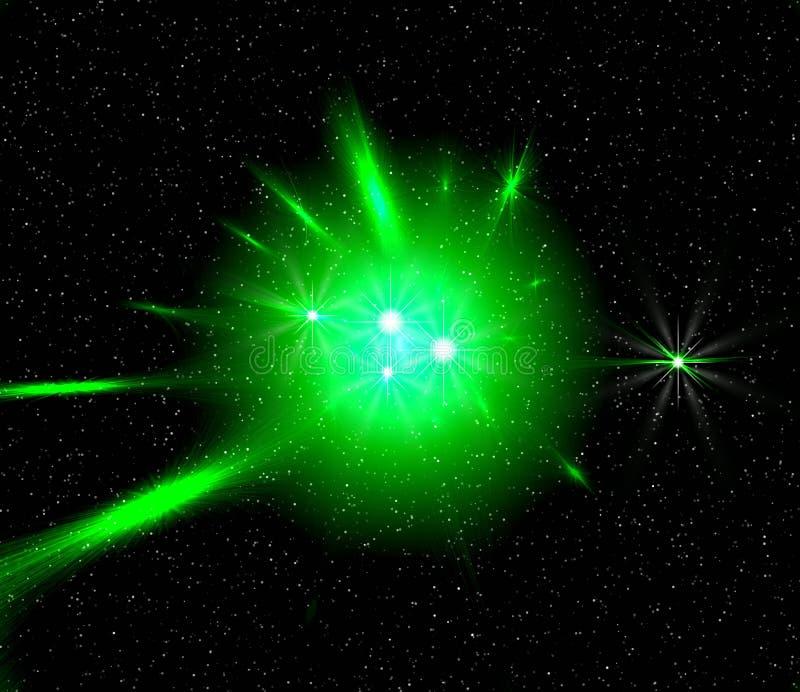 zielone światło przestrzeni royalty ilustracja