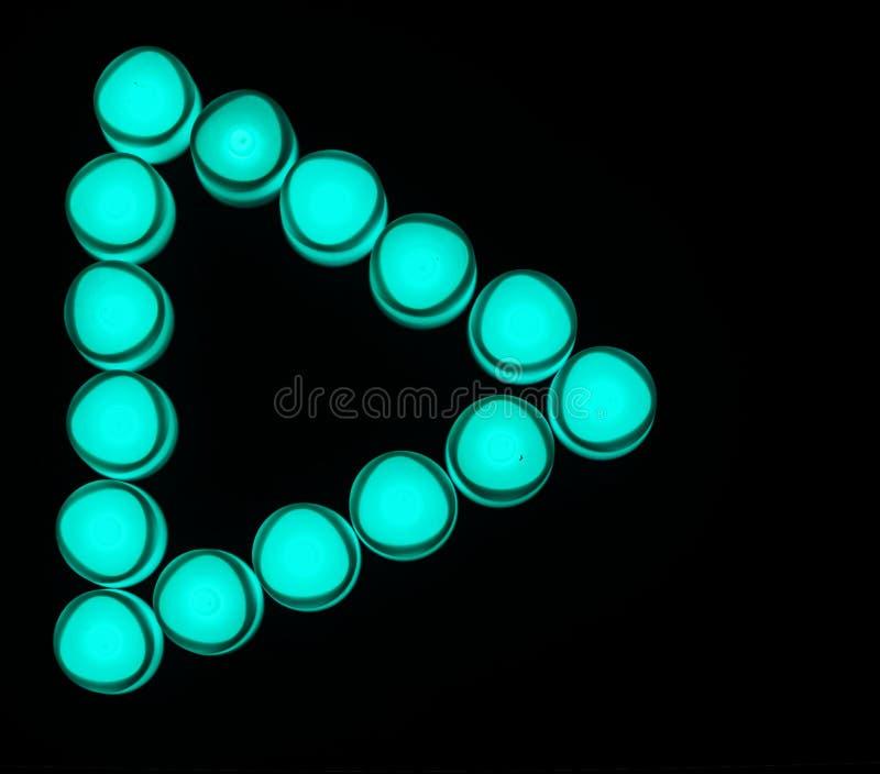 Zielone światło sztuki guzika ikona zdjęcia royalty free