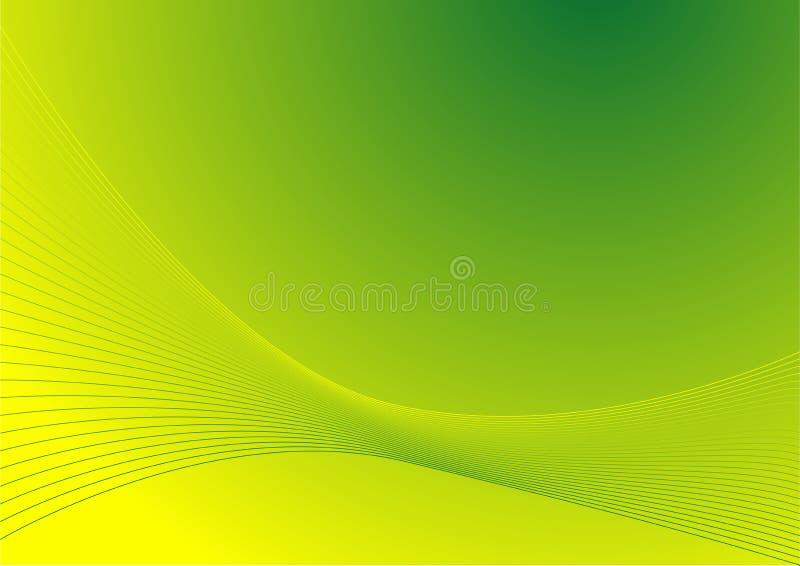 zielone abstrakcyjnych liny ilustracja wektor