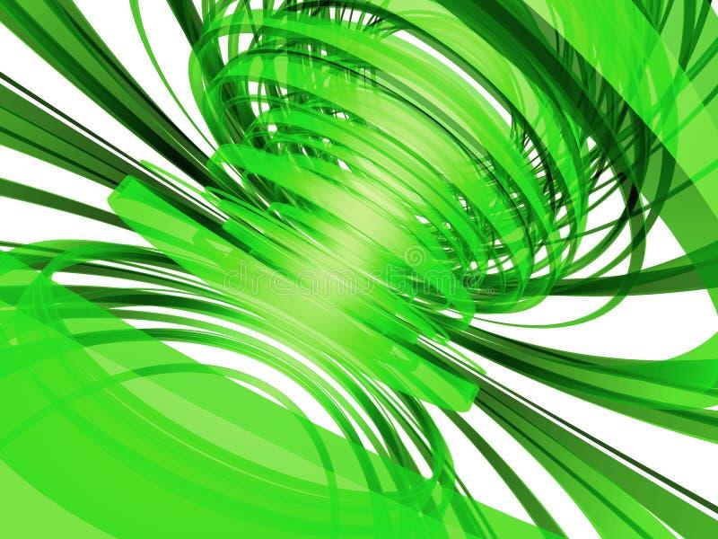 zielone abstrakcyjnych liny ilustracji