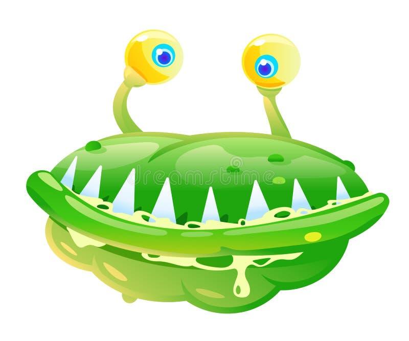 Zielone bakterie ilustracja wektor