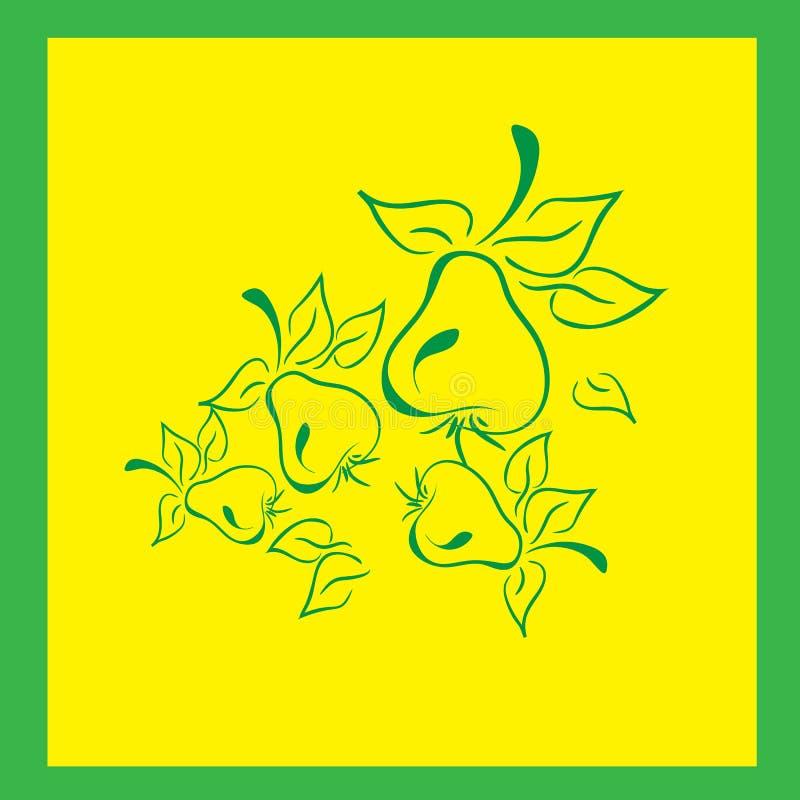Zielone bonkrety z liścia żniwa ogródem obrazy royalty free