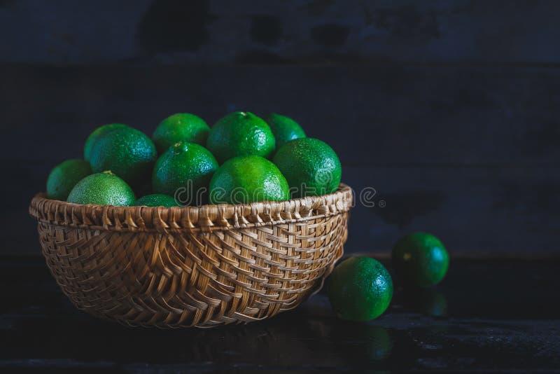 zielone cytryny zdjęcie stock