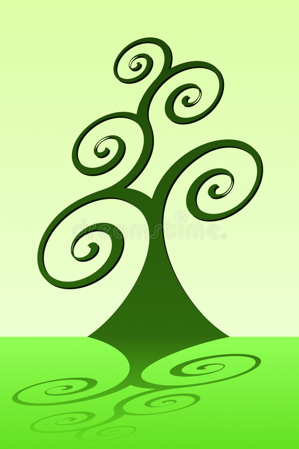 zielone drzewa ilustracji