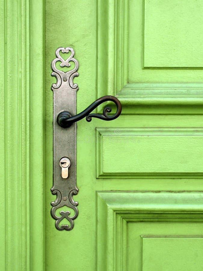 zielone drzwi zdjęcia stock