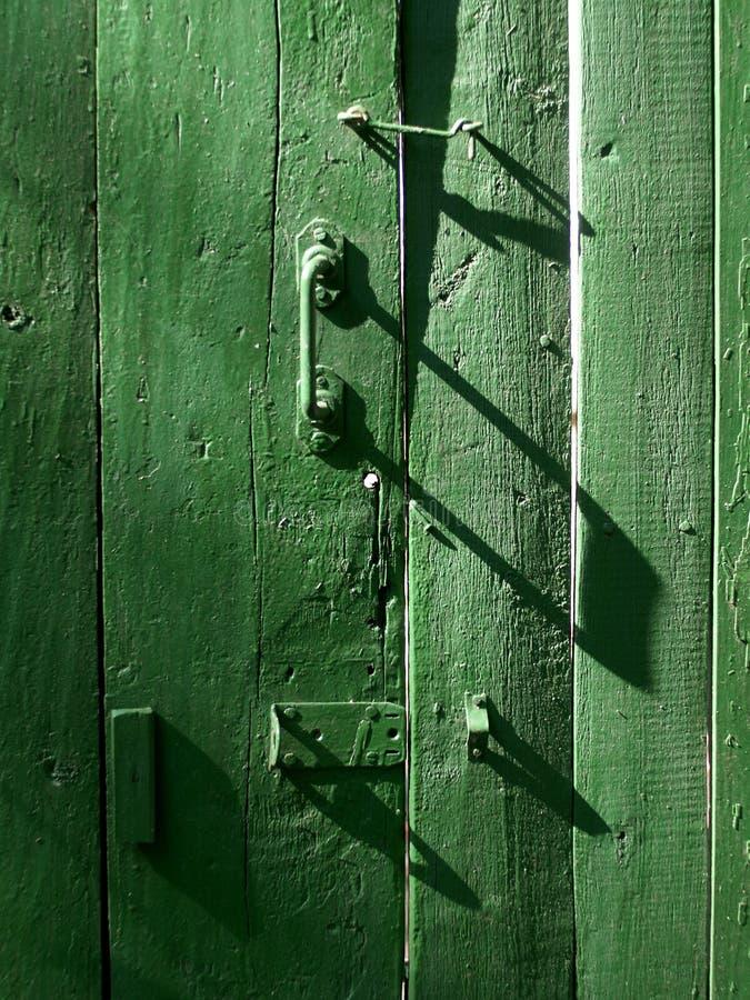 zielone drzwi obraz royalty free