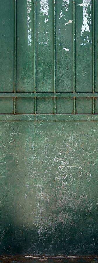 zielone drzwi stary fotografia stock