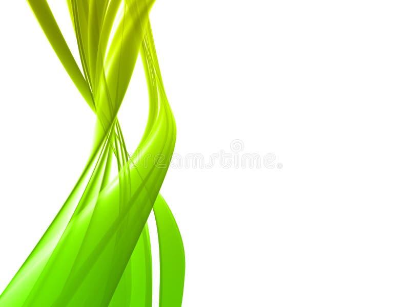 zielone fala royalty ilustracja