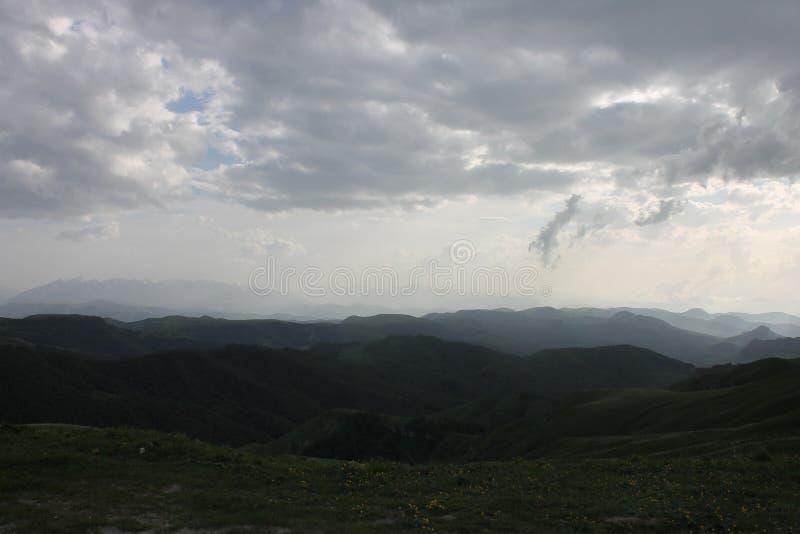 Zielone góry Ossetia obraz stock