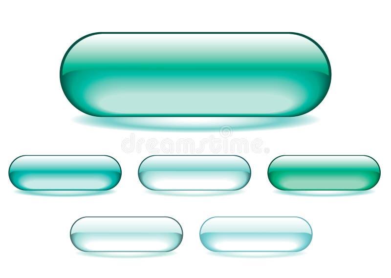 zielone gel ikony ilustracja wektor