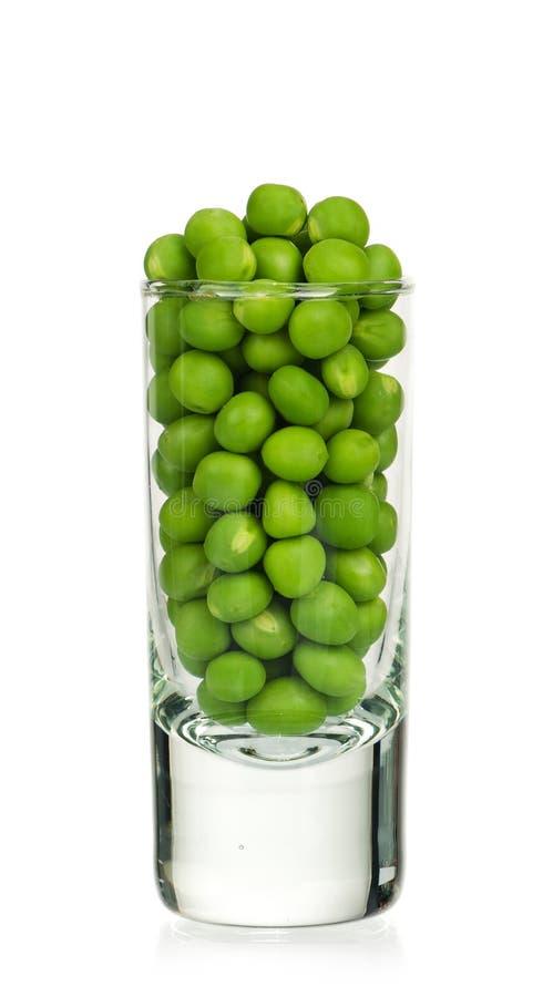 Zielone grochowe fasole obrazy stock