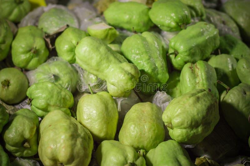 Zielone guava tekstury tapety i tła fotografia stock