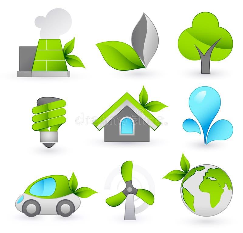 zielone ikony ilustracji
