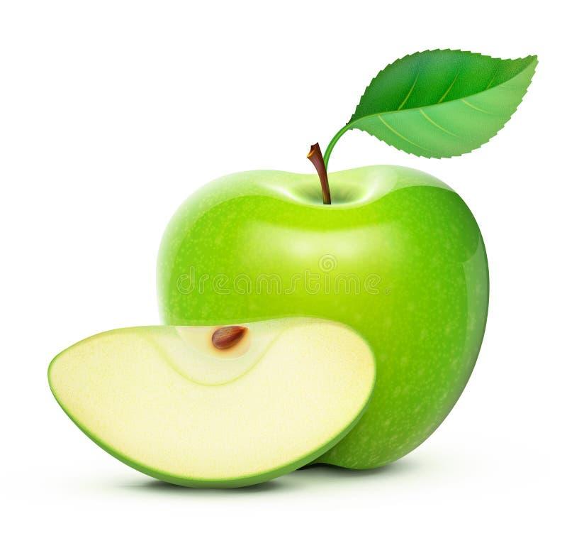- zielone jabłka ilustracji