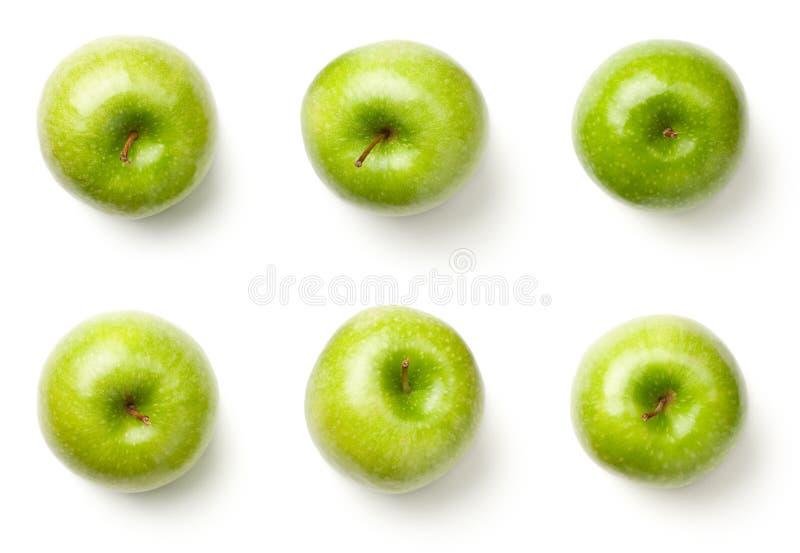 zielone jabłka w pojedynczy white obraz royalty free