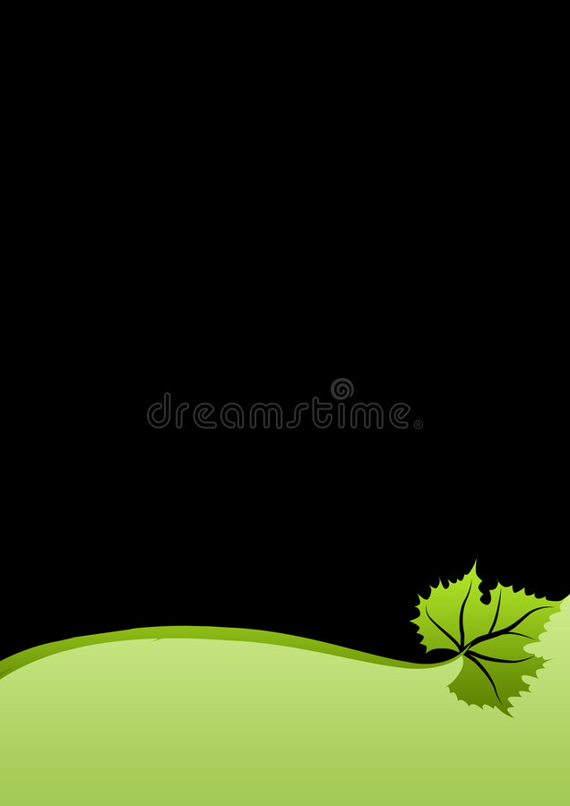 zielone liści, ilustracja wektor