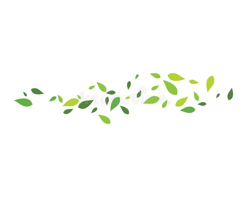 zielone liści tło ilustracja wektor
