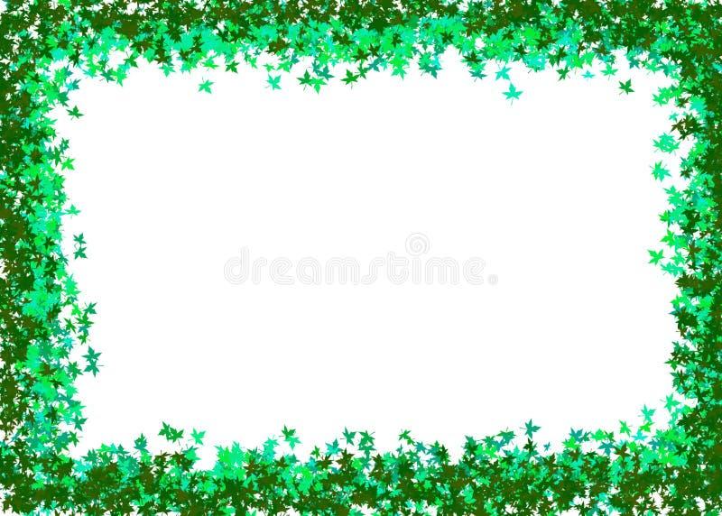 zielone liście ramowi zdjęcia stock