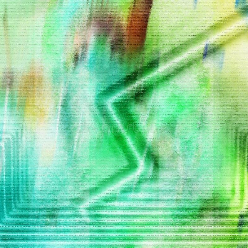 zielone liny ilustracja wektor
