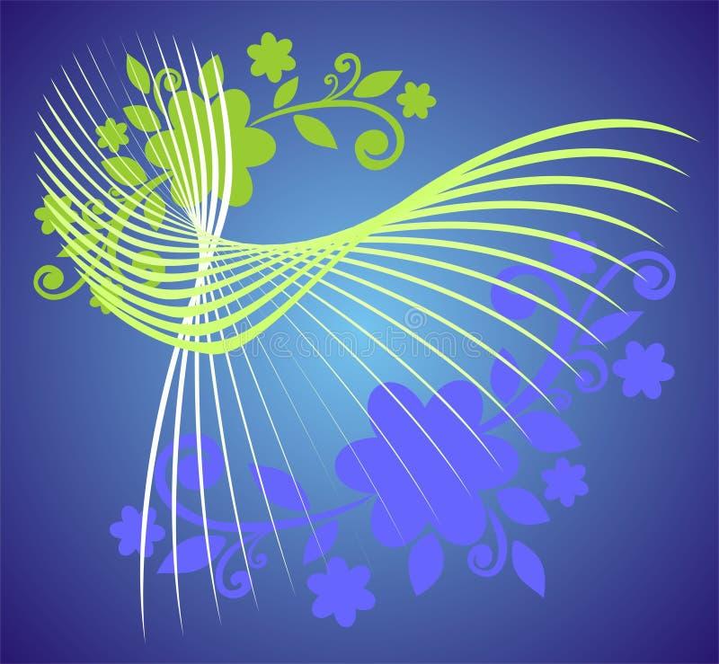 zielone loczki white ilustracja wektor