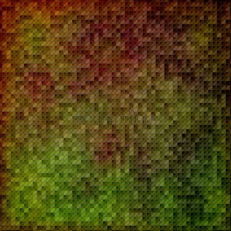 zielone mozaiki burgundii ilustracja wektor