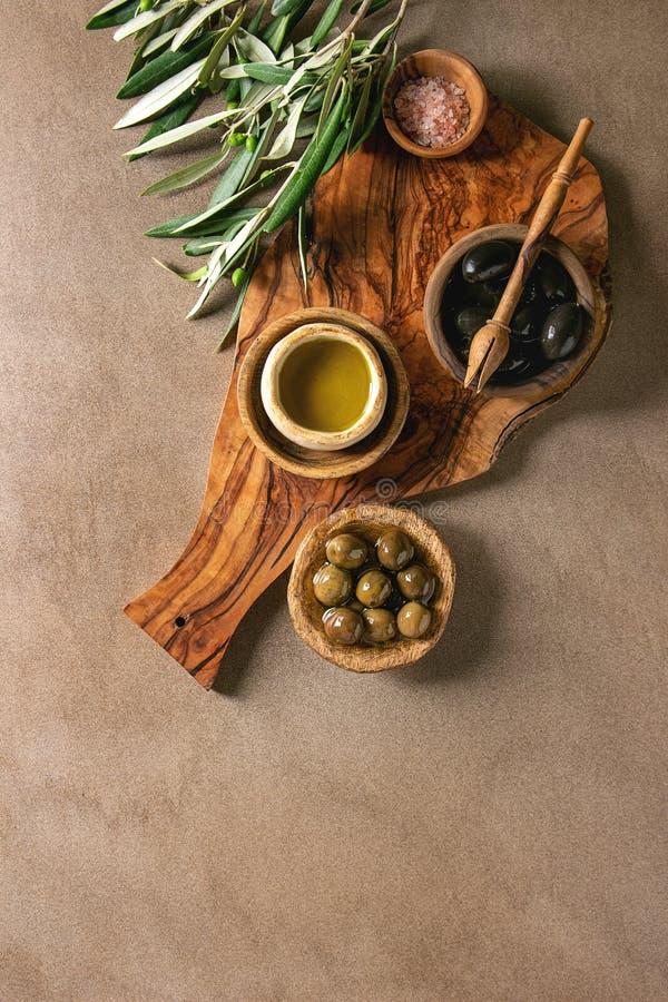 zielone oliwki czarne fotografia royalty free