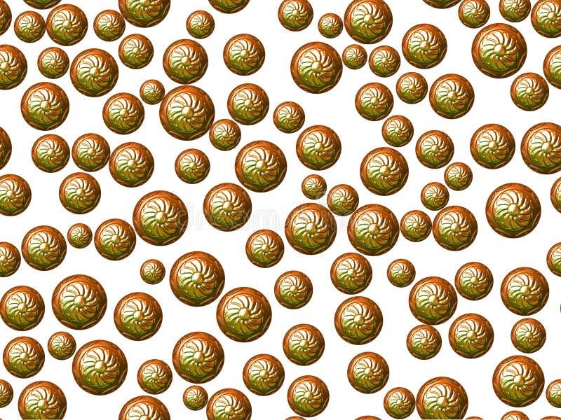 Zielone orientalne sfery na białym tle zdjęcie stock