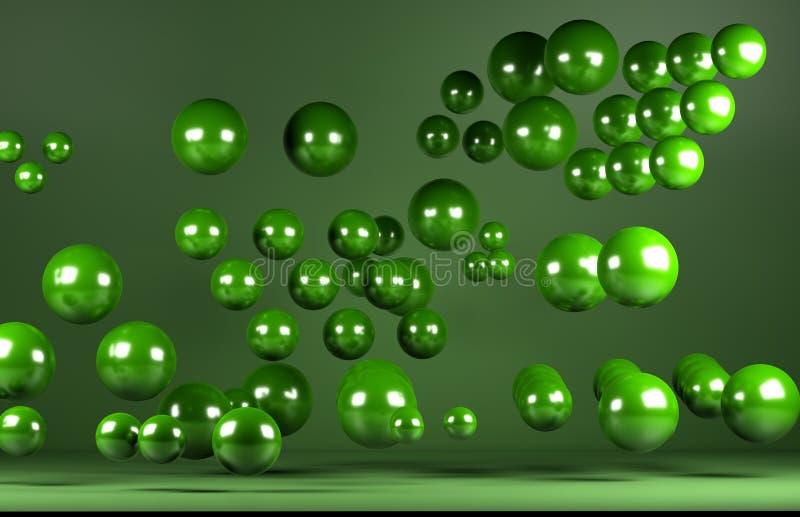 Zielone piłki royalty ilustracja