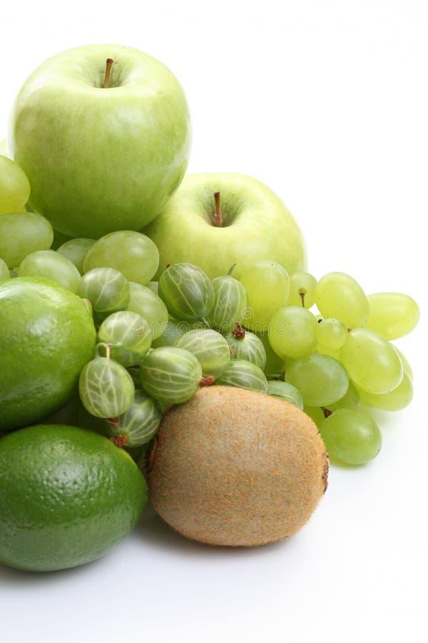 zielone różnych owoców zdjęcie stock