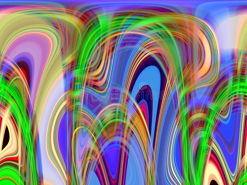 Zielone różowe błękitne rzadkopłynne linie, geometrii tło, grafika, abstrakcjonistyczny tło i tekstura, ilustracji