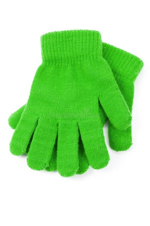 zielone rękawiczki zdjęcie stock
