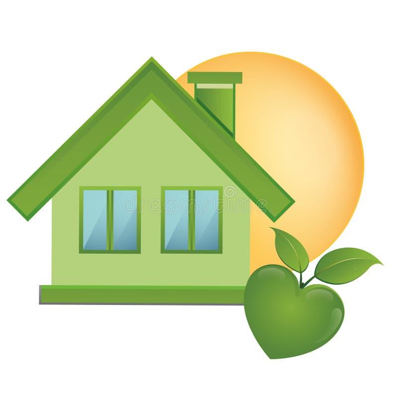 Zielone rzeczy - ekologii ikony symbolizować naturę ekologię i energię, ilustracja wektor