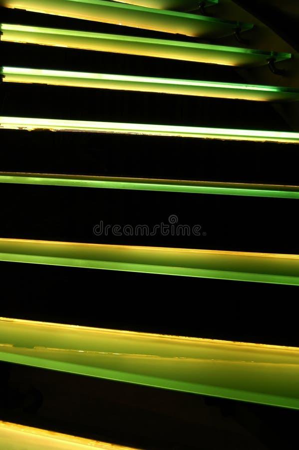 zielone schody. fotografia royalty free