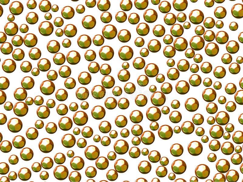 Zielone sfery lub bąble na białym tle obrazy stock