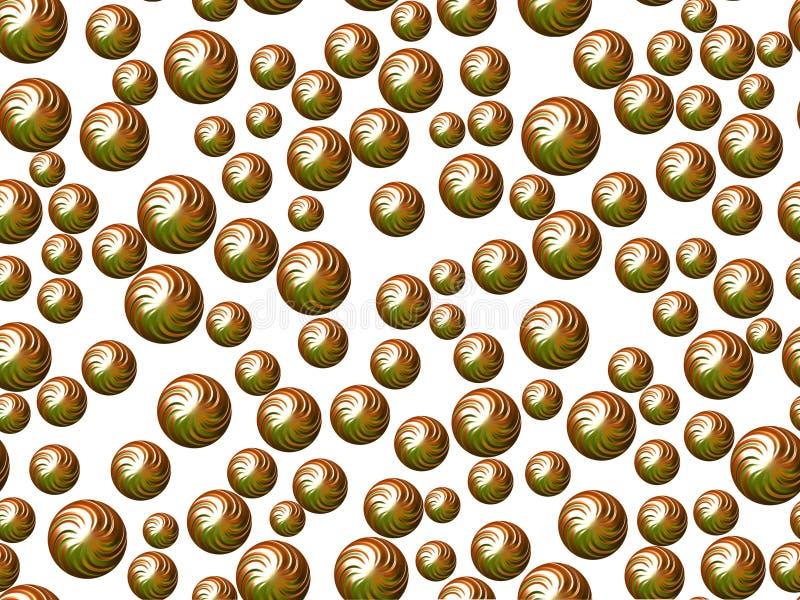 Zielone sfery na białym tle obraz royalty free