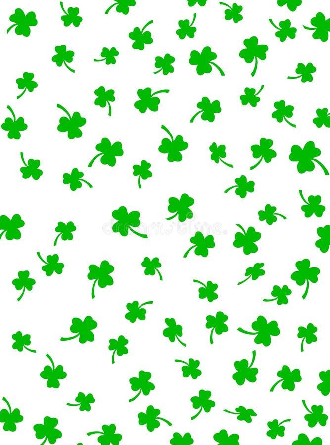 zielone shamrocks białe ilustracja wektor