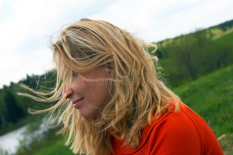 zielone sibir polowe kobiety zdjęcie stock