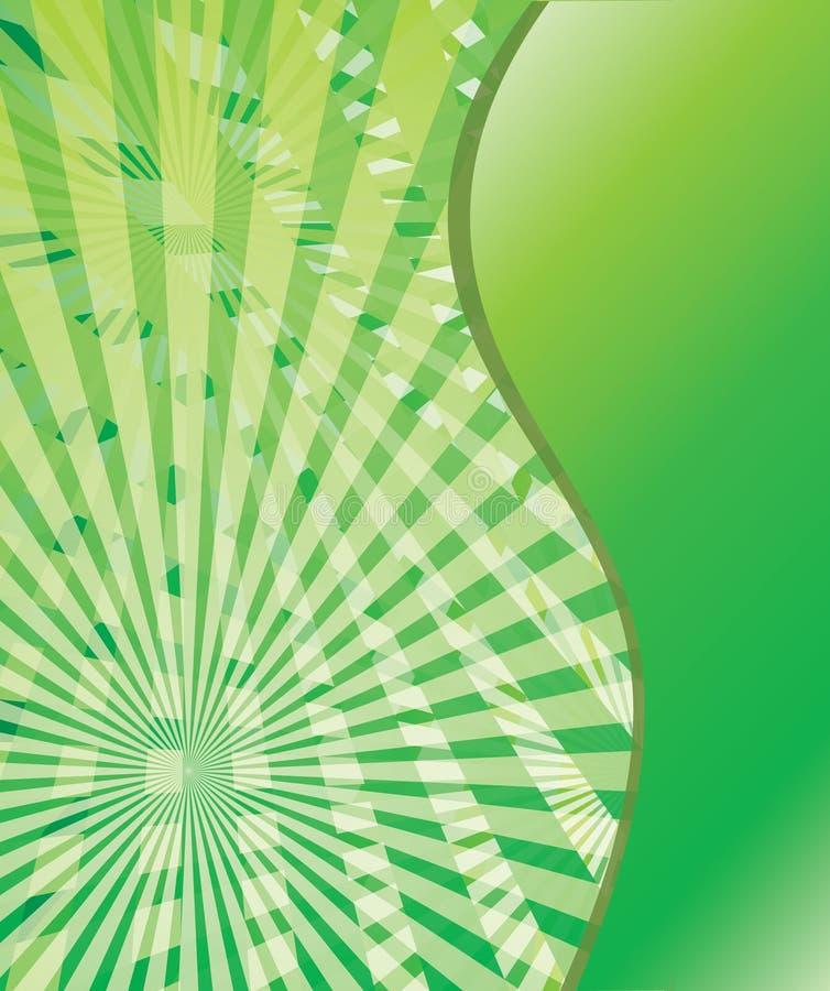 zielone tło abstrakcjonistyczne fala eps10 royalty ilustracja
