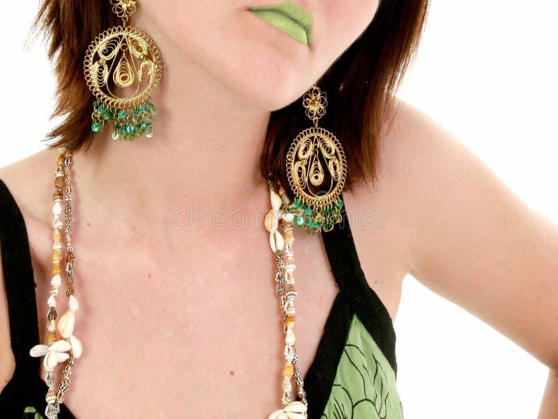 zielone usta fotografia stock